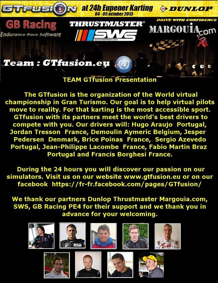 GTfusion Total 24h In-Out Eupener Karting 2013 - Presentation